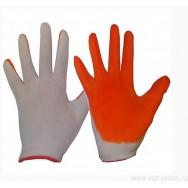Перчатки рабочие стрейч с резиновым покрытием