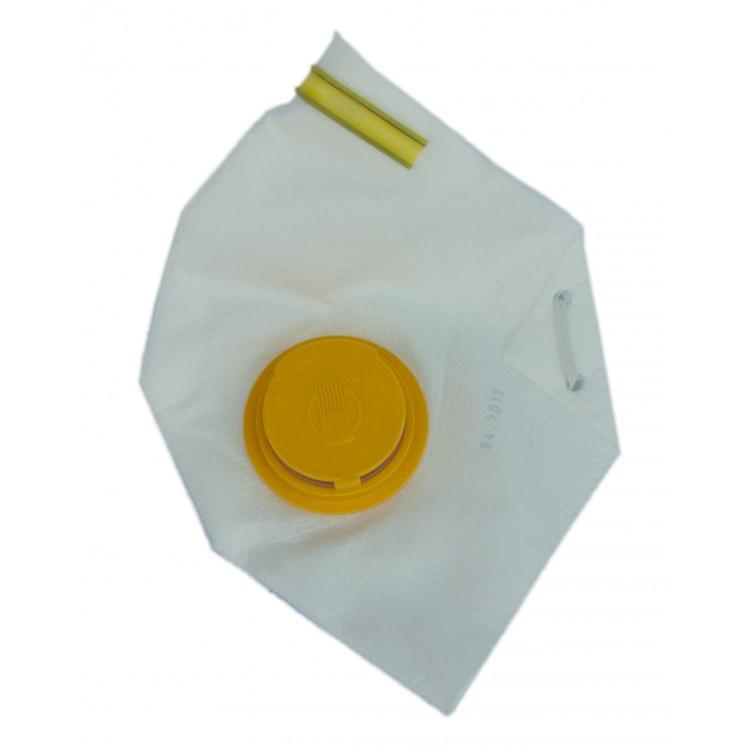 """Респиратор """"Росток-2ПК"""" желтый с клапаном"""