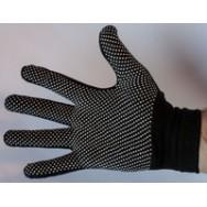 Перчатки стрейчевые с мелкой ПВХ-точкой