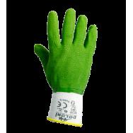 Перчатки  DOLONI №4526 НЕЙЛОНОВЫЕ (ВСПЕНЕННЫЙ ЗЕЛЁНЫЙ ЛАТЕКС),  размер 10