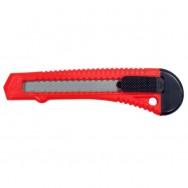 Нож с отломным лезвием 18мм, пластиковый корпус Intertool