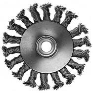 Щетка кольцевая 115x22,2 мм (пучки витой проволоки) INTERTOOL