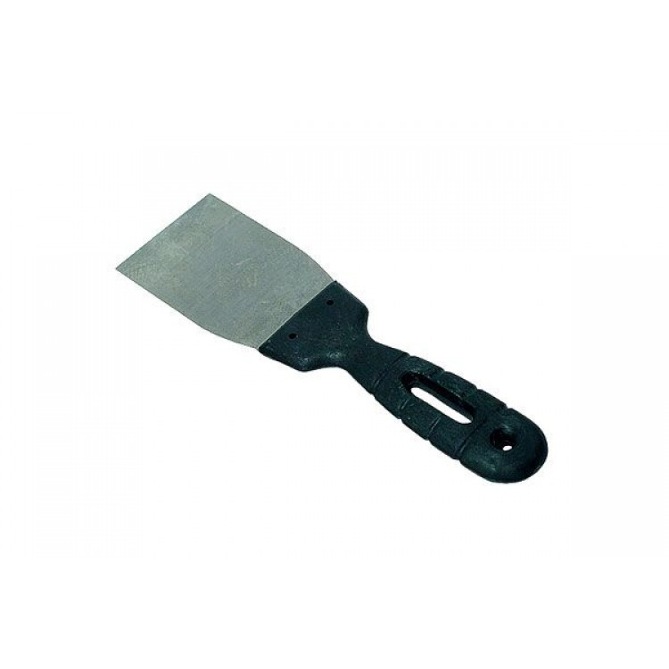 Шпатель нержавейка 60 мм с пластиковой ручкой