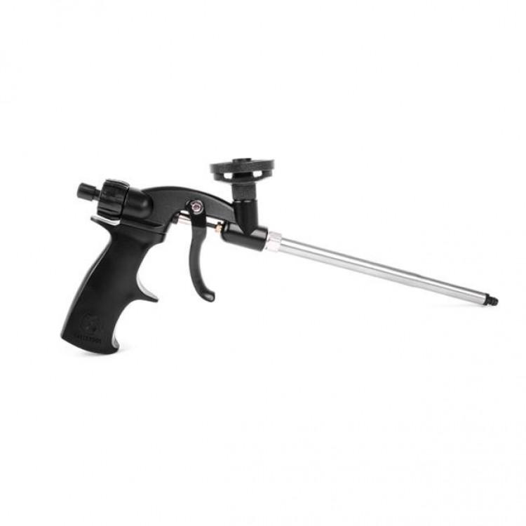 Пистолет для монтажной пены с тефлоновым покрытием иглы, трубки и держателя баллона + 4 нас. INTERTOOL