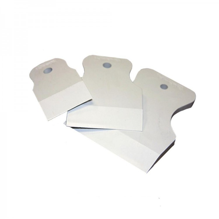 Шпатели резиновые -3шт(40,60,80мм) белые