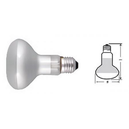 Лампа рефлекторная R80/60W E-27 Deluxe