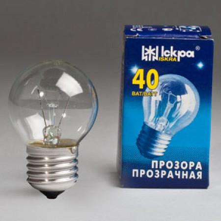 Лампа шар Е27 40 Вт. в инд.упаковке