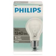 Лампа накаливания ЛОН 100 Вт PHILIPS