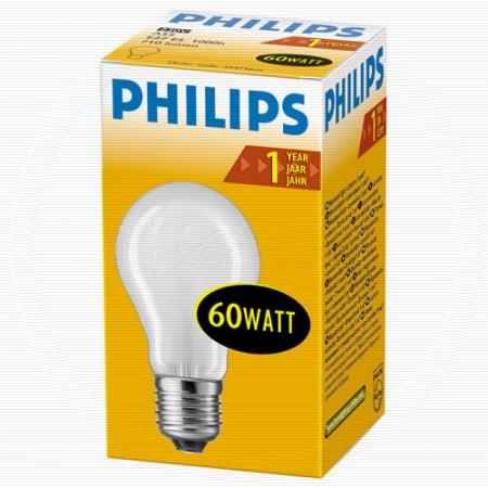 Лампа накаливания ЛОН 60 Вт PHILIPS матовая