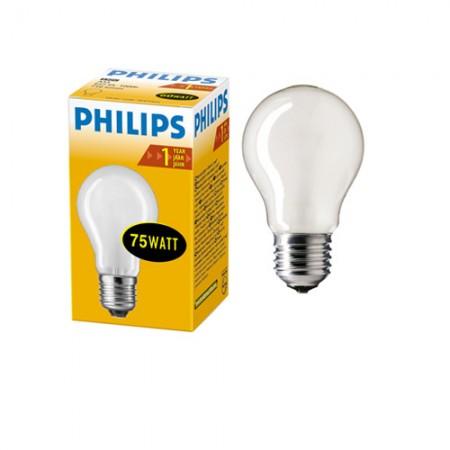 Лампа накаливания ЛОН 75 Вт PHILIPS матовая