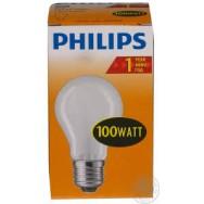 Лампа накаливания ЛОН 100 Вт PHILIPS матовая