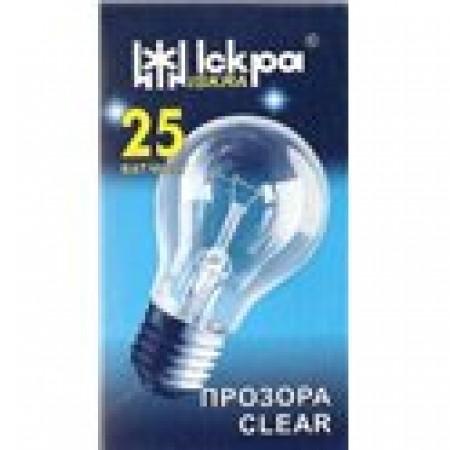 Лампа накаливания 25Вт. в индивидуальной упаковке