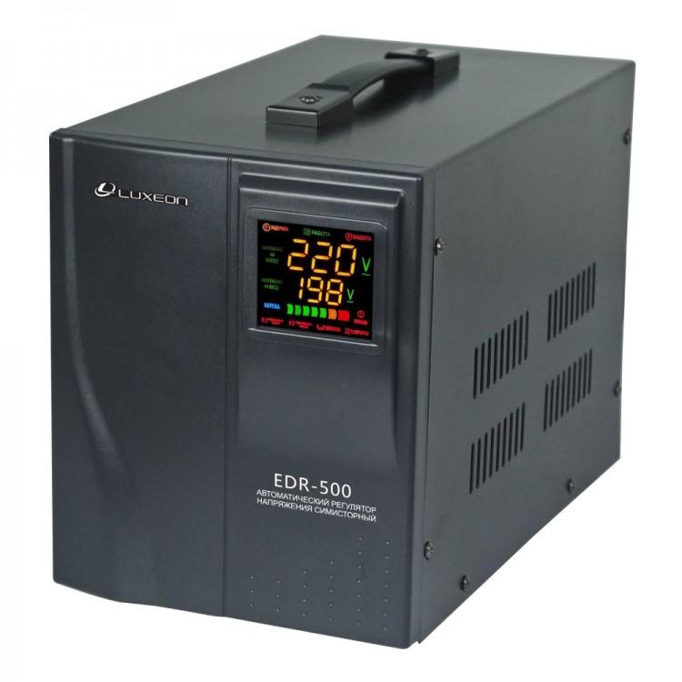 Стабилизатор Luxeon EDR-500, 350Вт, cимисторний тип, цифровой индикатор