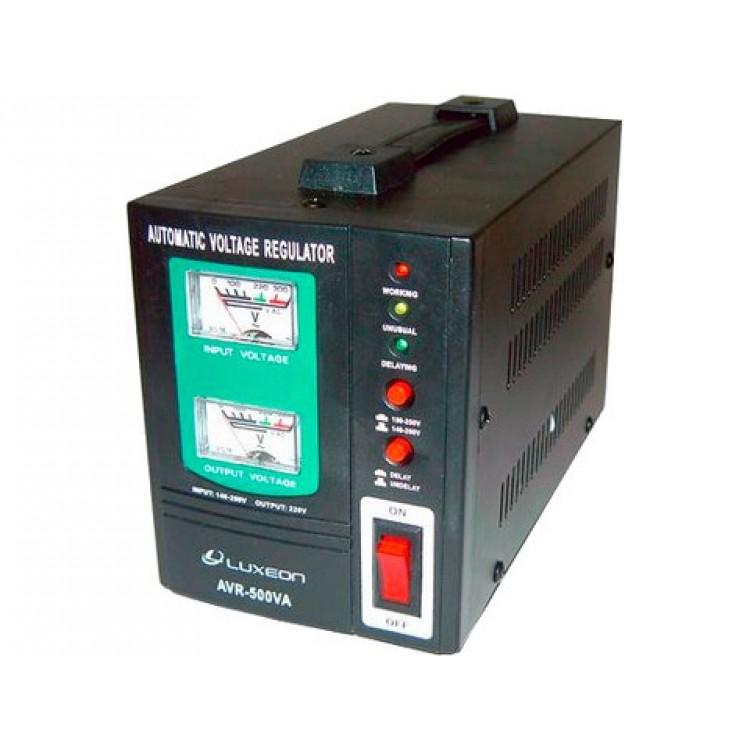 Стабилизатор Luxeon AVR-500VA, 350Вт, стрелочный индикатор