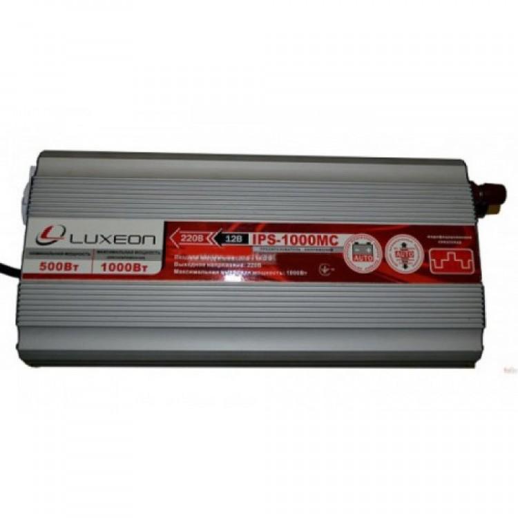 Инвертор напряжения Luxeon IPS-1000MC, 600Вт,12V-220V, Функция зарада батареи
