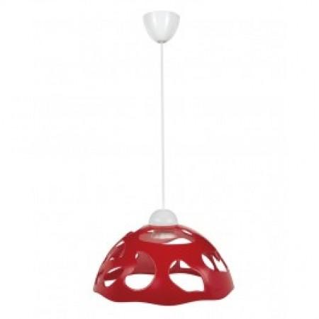 Светильник ERKA 1304, потолочный, 60W, красный, Е27