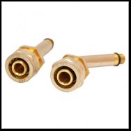 Фитинг муфта для металлопластиковых труб 16хМ10 (комплект 2 шт)