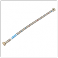 """Шланг для подвода воды в нерж.оплетке L=300 1/2"""" ВВ GEWASSER (латунная гайка)"""