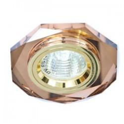 Светильник точечный Feron 8020-2/(CD3003) коричневый-золото MR16 50W  BR/GD