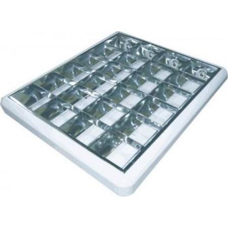 Cветильник растровый  4-18 W Зеркало 650х650 накладной