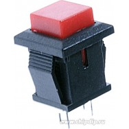 Кнопка квадратная двухконтактная красная