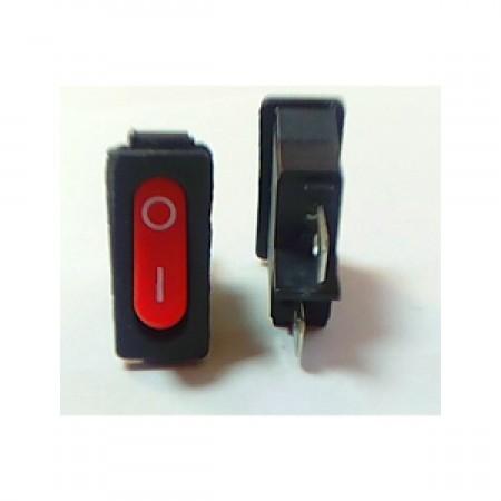 Кнопка двухконтактная узкая красная