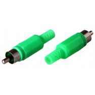 Штекер RCA зеленый 1204