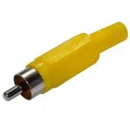 Штекер RCA желтый 1205
