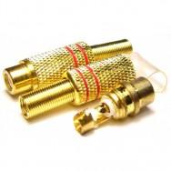 Гнездо RCA кабельное металл GOLD 1221