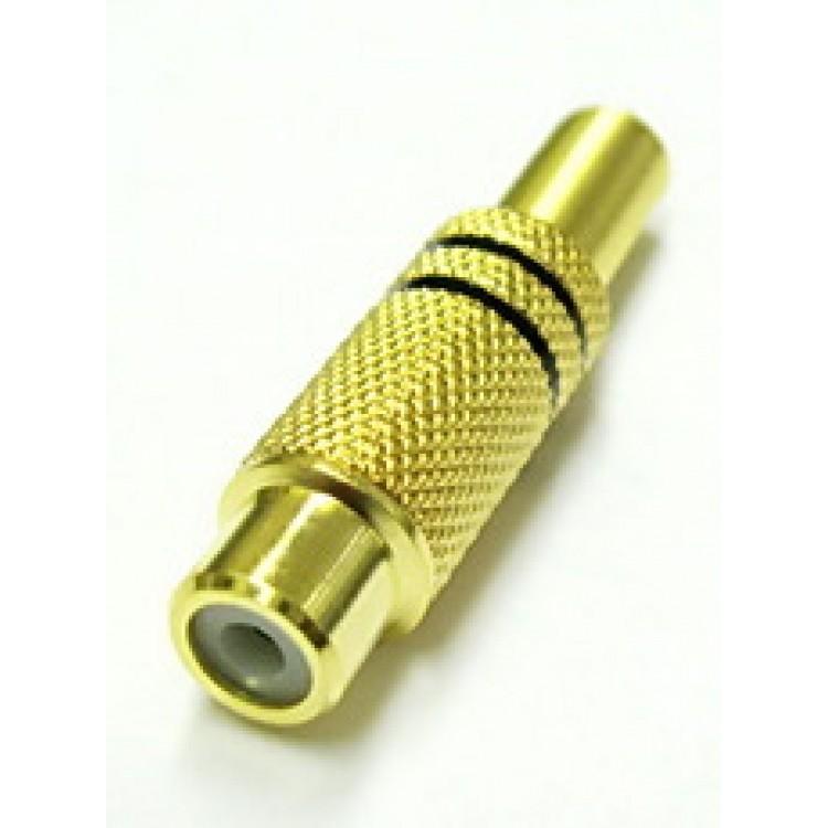 Гнездо RCA кабельное металл GOLD 1222