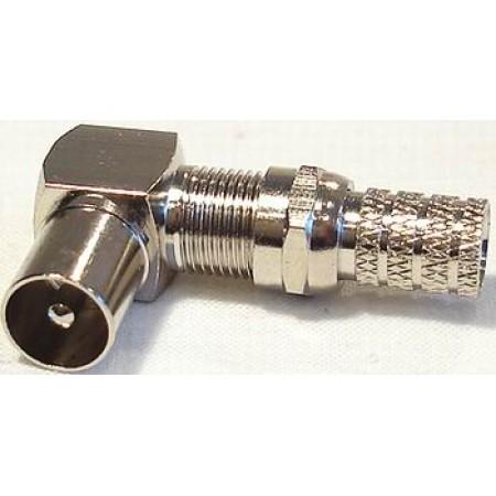 Штекер ТВ угловой металл 1962-3
