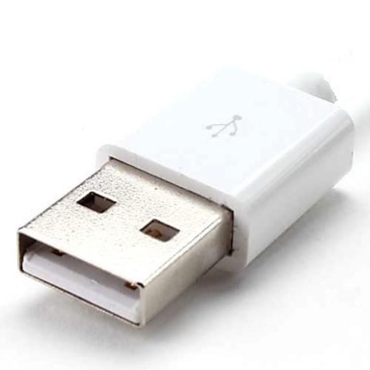USB штекер тип А бакелит белый