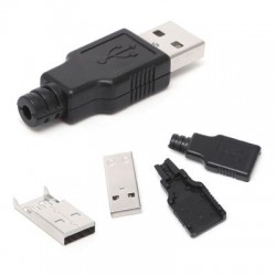 USB штекер тип А черный