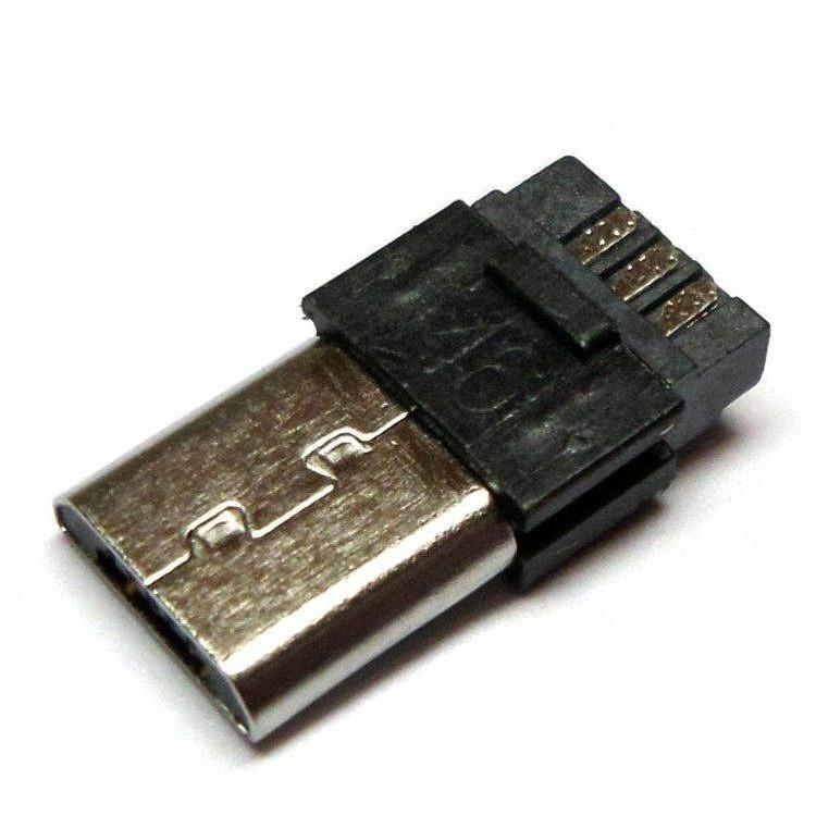 micro usb штекер под шнур 5pin
