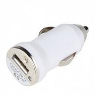 usb зарядка для авто 1А от прикуривателя белая