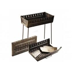 Мангал разборный чемодан 10 шампуров