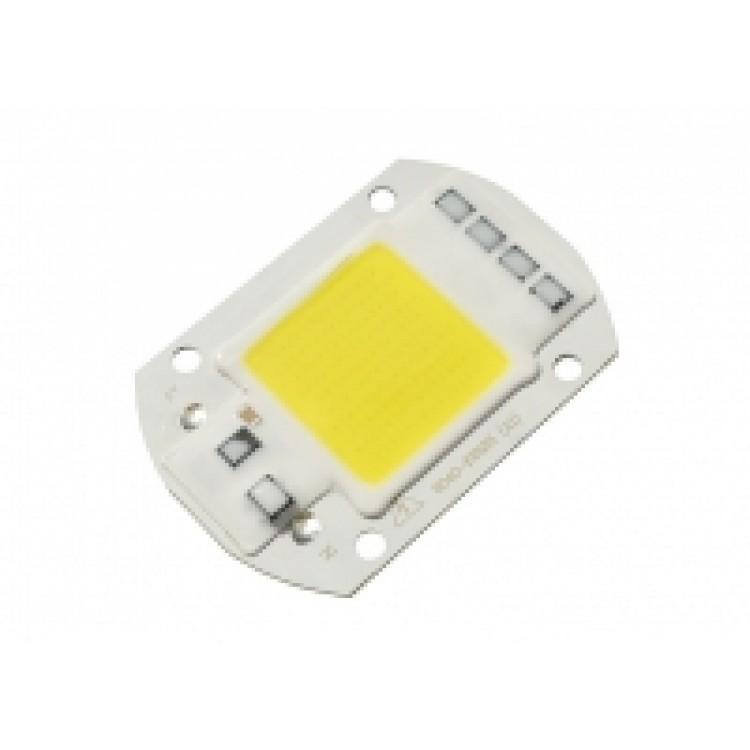 Светодиодный модуль сверхяркий LED 50Вт White IC 220В (6000К)