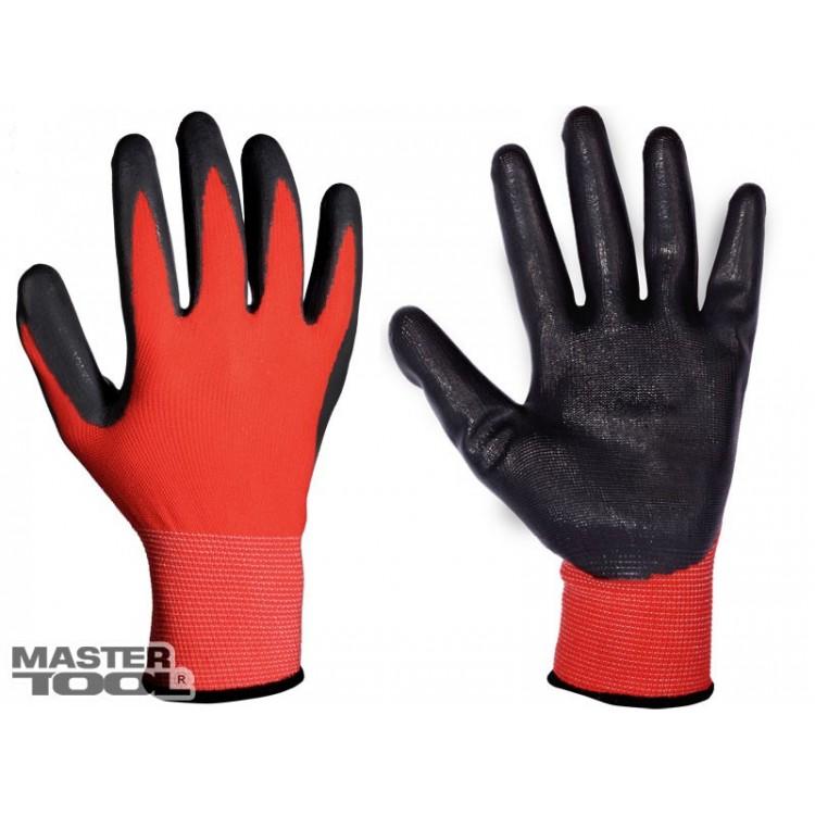 Перчатки стрейчевые с нитриловым покрытием ладони