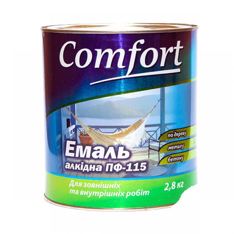 Эмаль ПФ-115 коричневая Комфорт 2,8кг