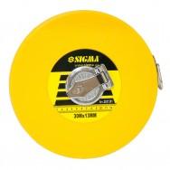 Рулетка измерительная 30мх100мм Sigma стекловолокно