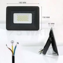 Светодиодный прожектор 30W 2700lm S4-SMD-50-Slim 6500К 220V IP65 BIOM