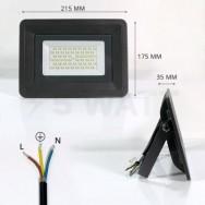 Прожектор светодиодный 50W 4750lm S4-SMD-50-Slim 6000К 220V IP65 BIOM
