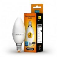 Светодиодная лампа LED VIDEX C37е 6W E14 3000K 220V