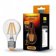 Светодиодная лампа LED VIDEX Filament A60F 7W E27 4100K 220V