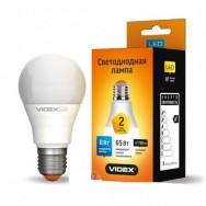 Светодиодная лампа LED VIDEX A60е 8W E27 3000K 220V