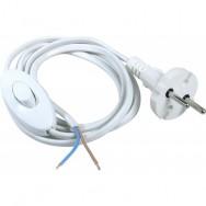 Шнур с выключателем белый для бра 1.2м