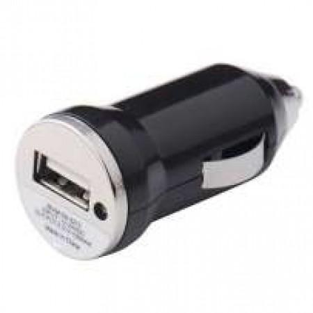 usb зарядка для авто 1А от прикуривателя черная