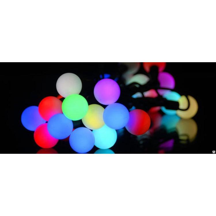 Гирлянда светодиодная LED30 шарики 5м multi