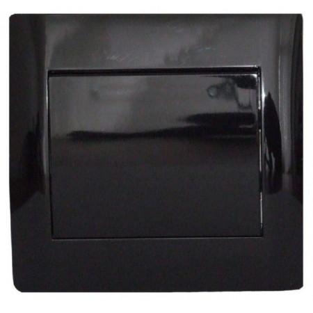 Выключатель одноклавишный черный глянец oscar lxl
