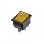 Кнопка шестиконтактная широкая желтая